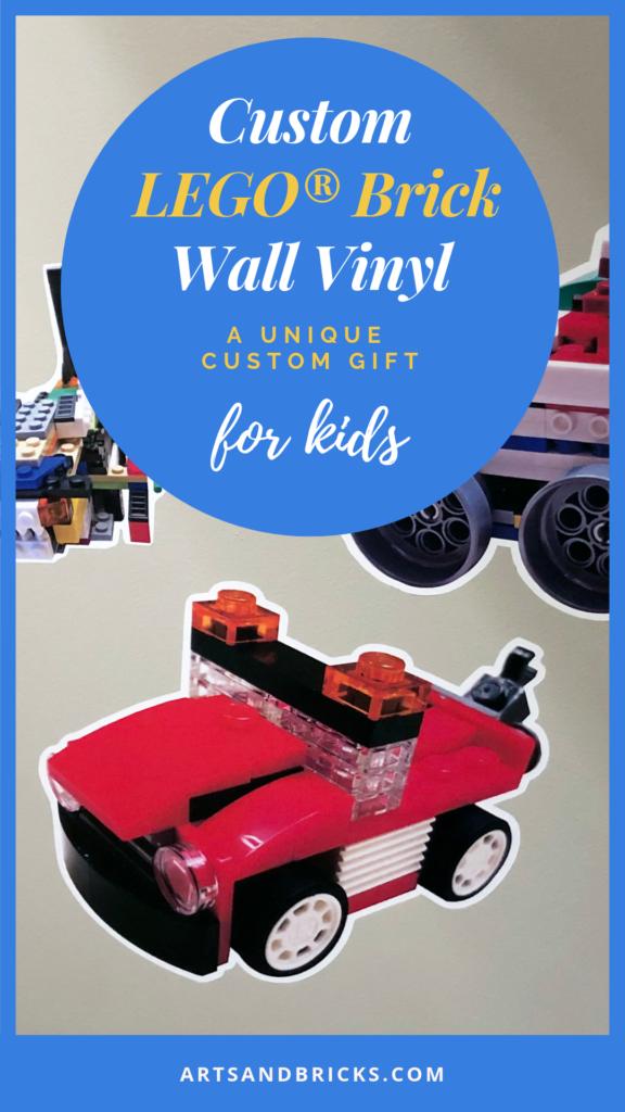 Custom Lego(r) Brick Wall Vinyl - A Unique Custom Gift for Kids