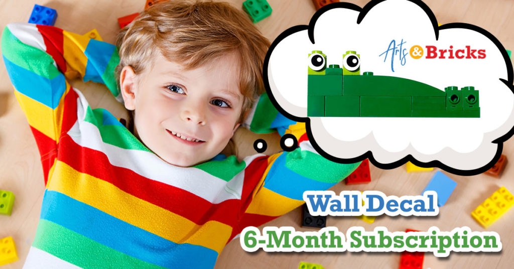 6-month subscription for personalized wall stickers for kids