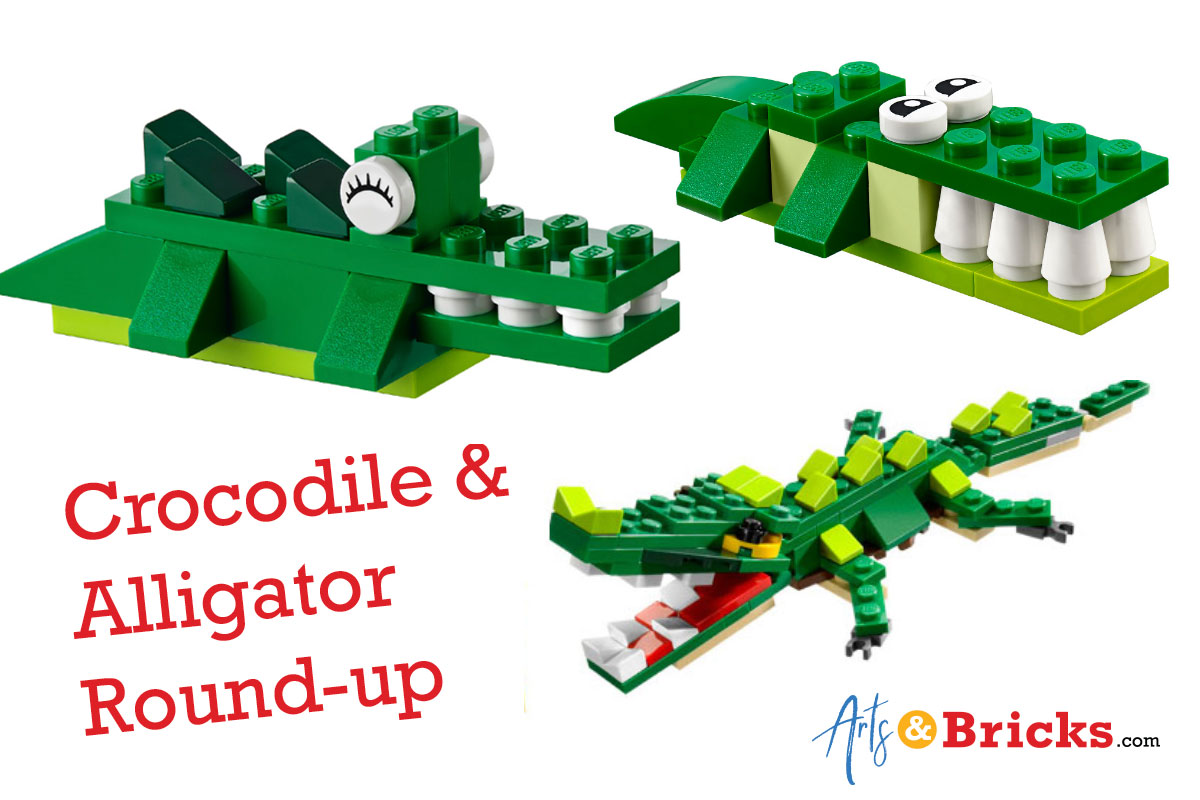 How to build an alligator or crocodile out of bricks