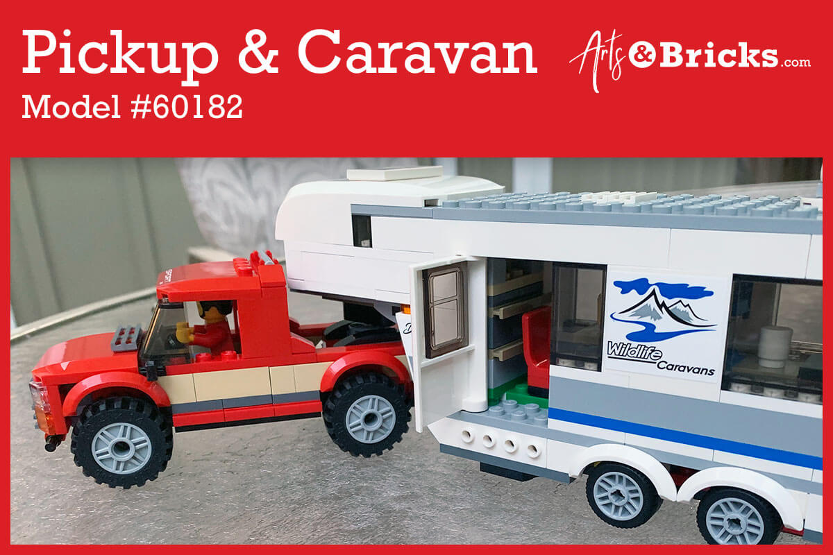 The perfect summer brick set for kids – Pickup and Caravan
