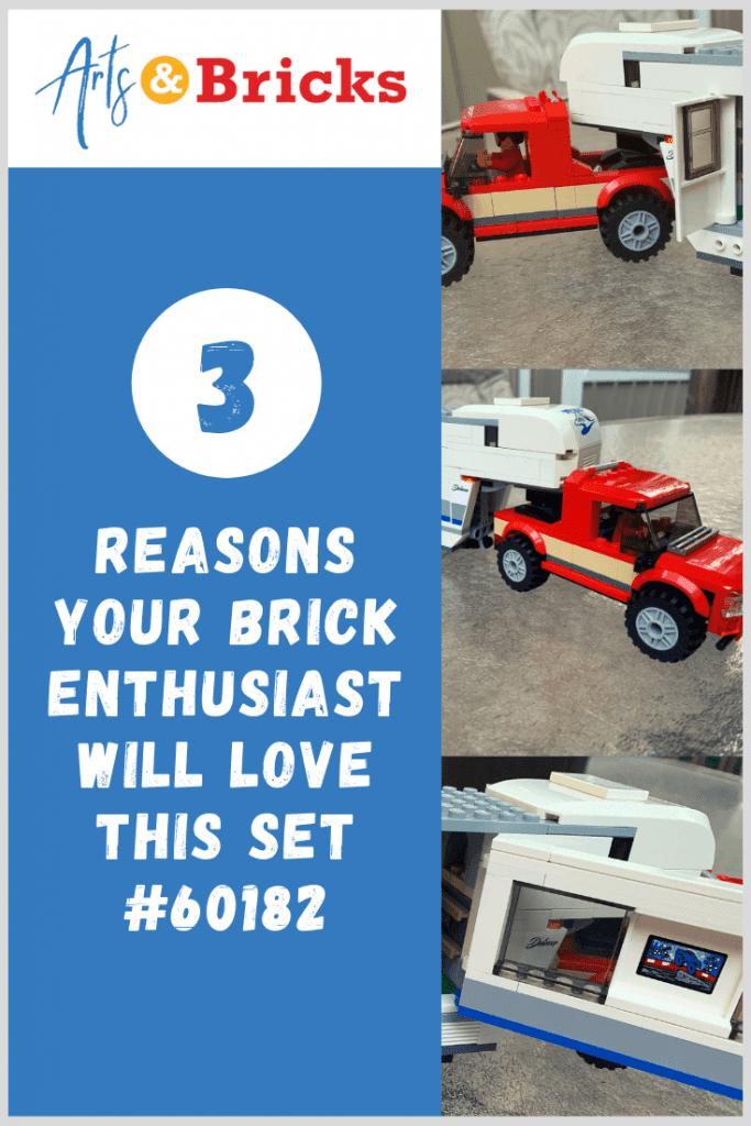 3 Reasons your brick enthusiast will love LEGO City Pickup & Caravan Set #60182