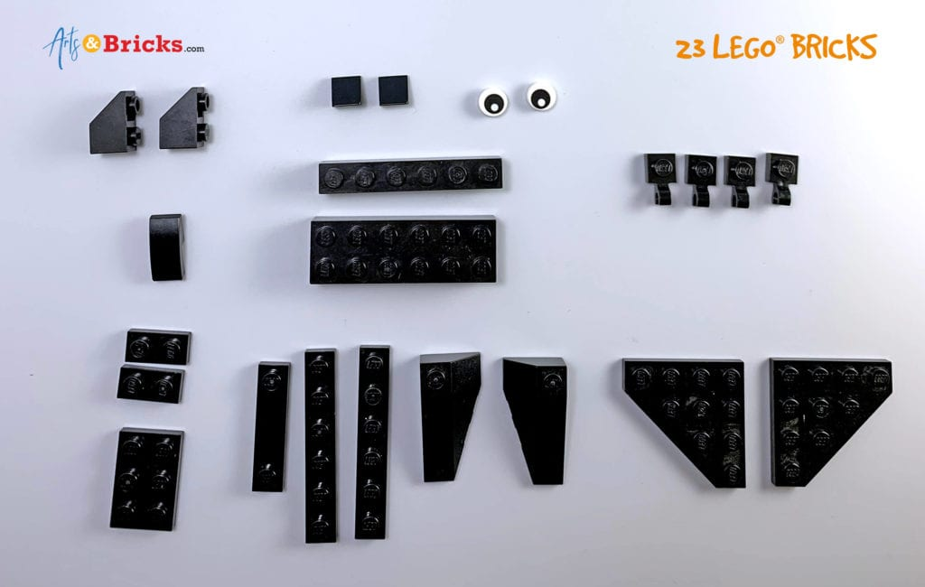 How to build a bat out of LEGO Bricks