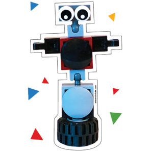 Brick-Built Robot on Wheel