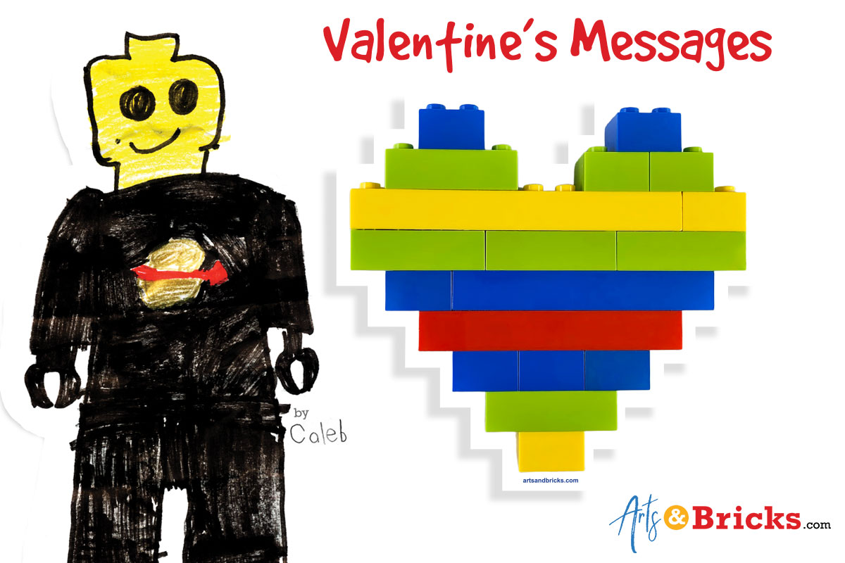 Lego Valentine DIY Messages