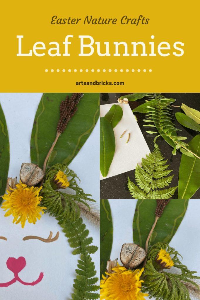Easter Nature Crafts - Leaf Bunnies