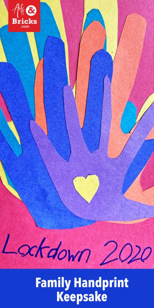 Examples and inspiration for handprint covid-19, lockdown 2020 family keepsake artwork