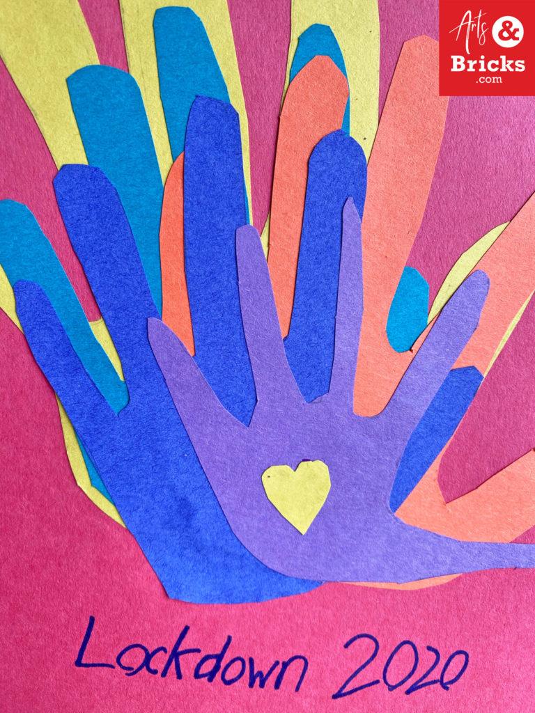 Lockdown 2020 Handprint Art Family Keepsake