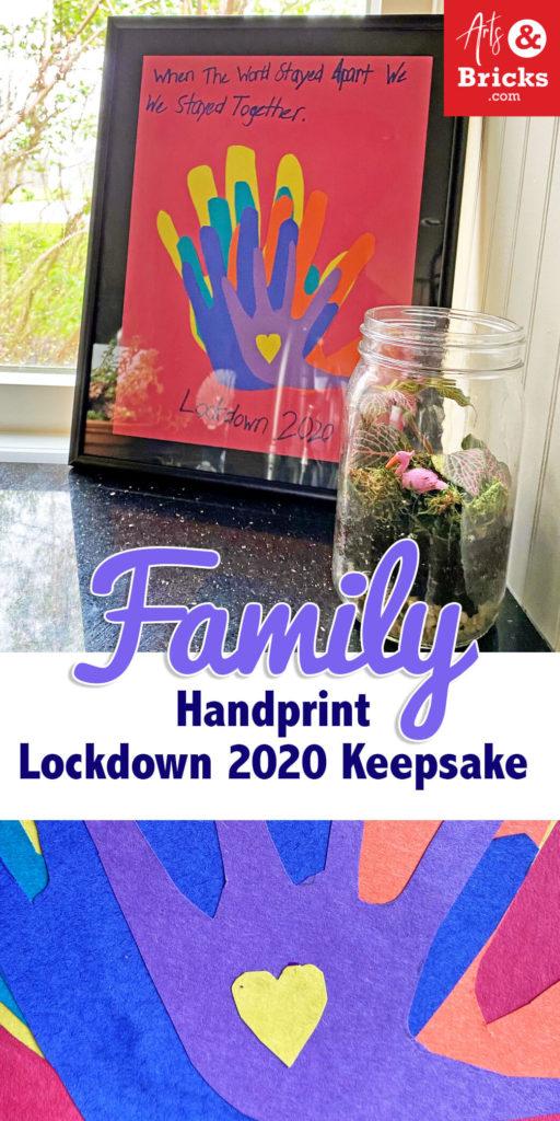 Handprint Lockdown 2020 keepsake for families during quarantine