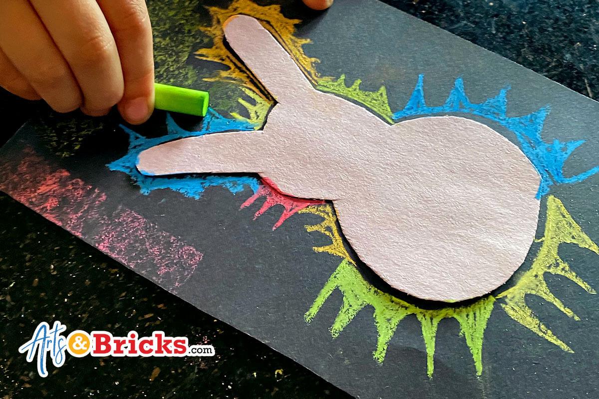 Chalk Bunny Silhouette Art