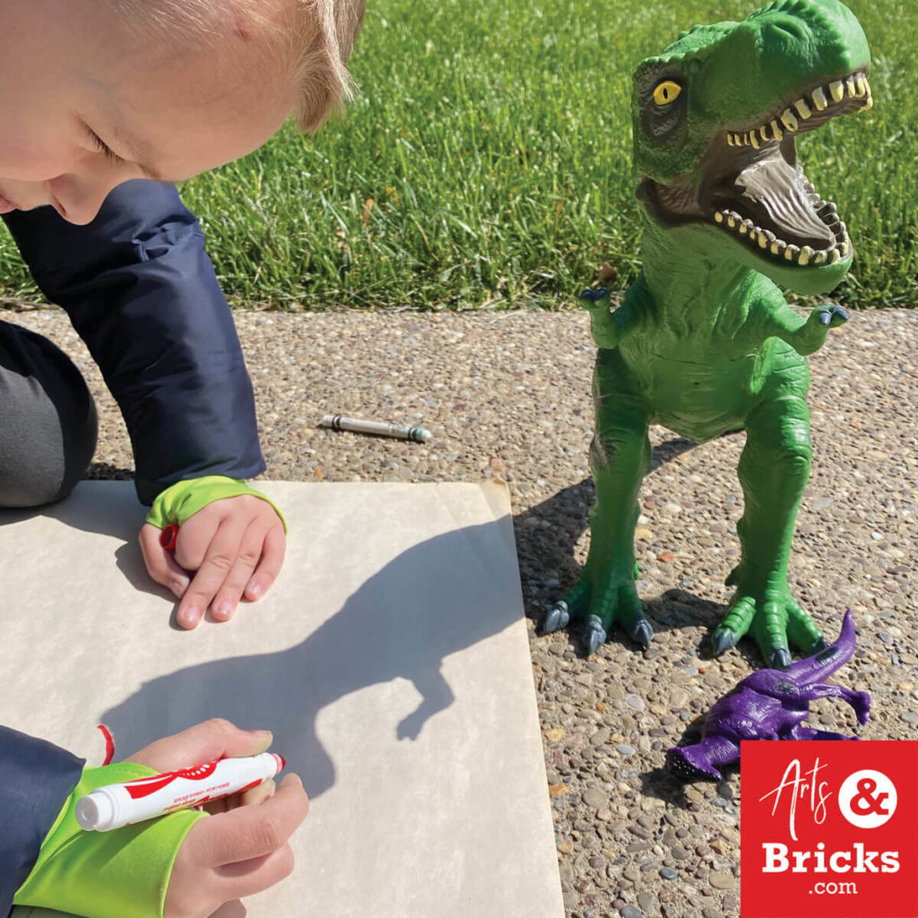 Tracing toy dinosaur - shadow tracing toys for kids