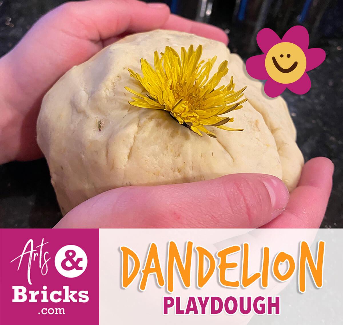 An easy recipe for Dandelion Playdough