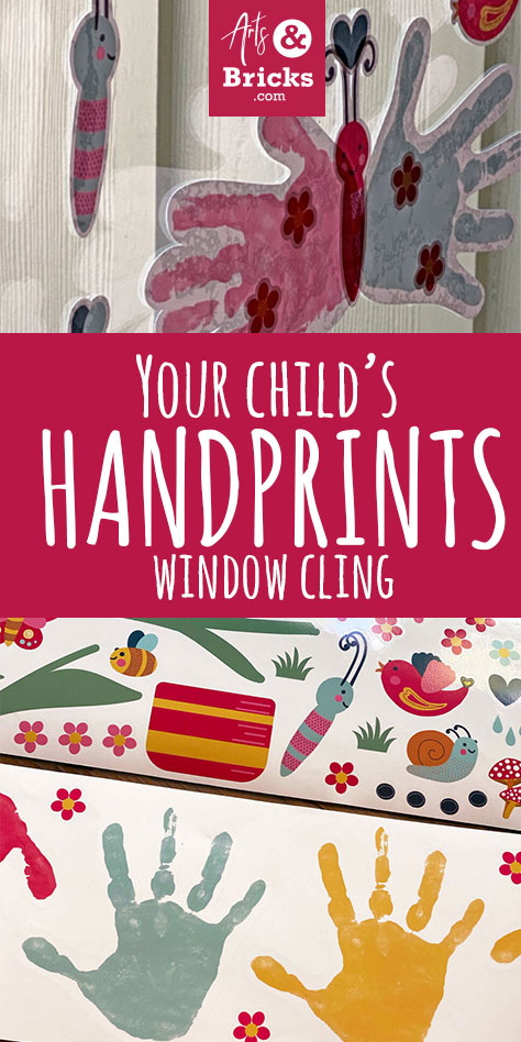 Make a window cling set featuring your child's colorful hands. Make butterflies, flowers, a chick, a duck, a pig and more!