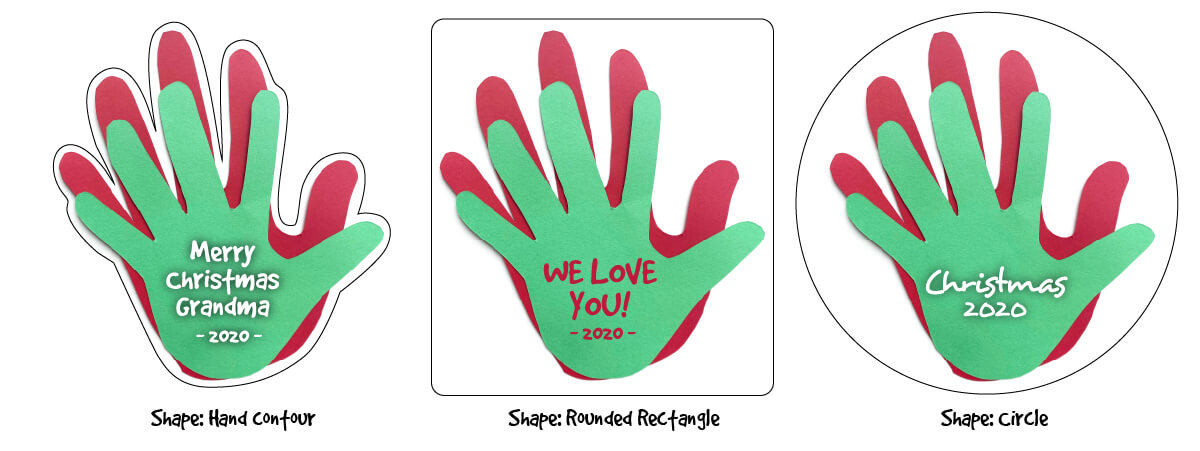 Christmas Keepsakes from Kid's Handprints