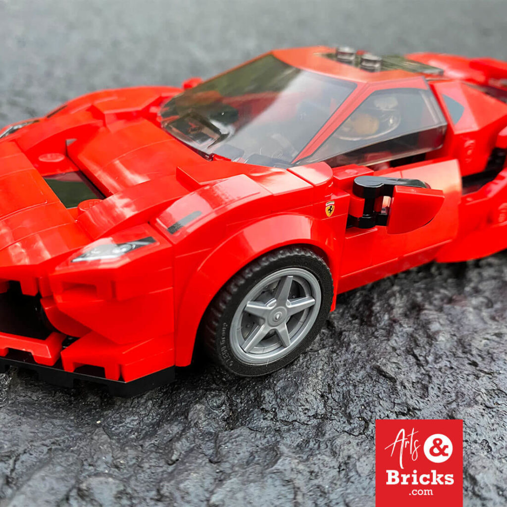 From a kid's perspective, here are some of the favorite features of the LEGO Ferrari Tributo 76895: Sticker Power, Cool Hair, Doesn't break when playing, multiple hub cap choices, great color scheme red/black, super aerodynamic and just looks cool! Read more in our LEGO review by an eight-year-old kid. #lego #reviews #gifts #forkids #legokids