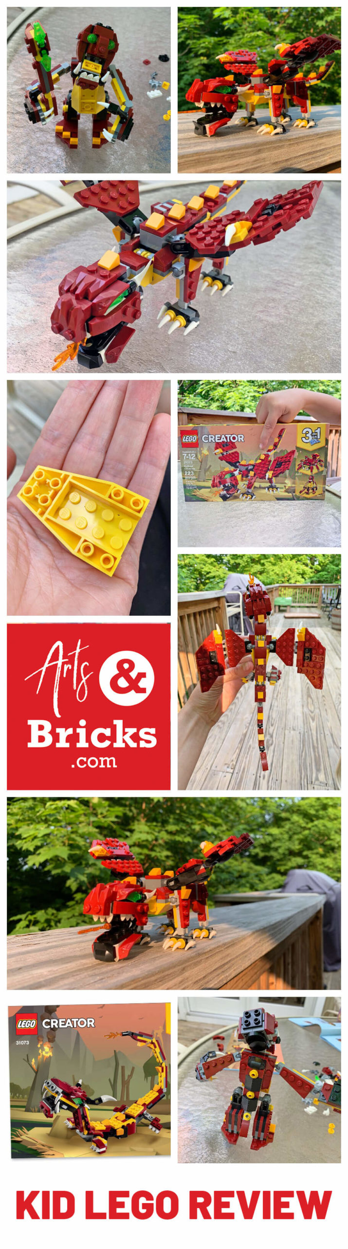 Dragons, Trolls and Spiders delight the LEGO-loving kiddo in your life with the LEGO Creator 3in1 Mythical Creatures 31073 Building set. Our kid-review shares the good and the bad of this set and pictures! Take a look!  #legostagram #toptoyphotos #toysphotogram #legolife #instalego #brickinsider #legomania #legophoto #legocollection #forkids #legoaddict #legobuilder #legobricks #afol #legos #brickstagram #legofun #creativekids #legofan #legoart #instalego #bykidsforkids #legoworld #artsandbricks #lego  #legophotos #legocreations #lego #kids #legobuilder #legophotography #parenting #legos #littlecreatives