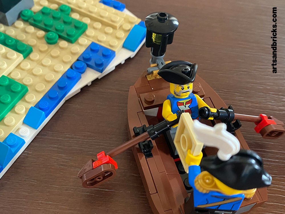 Read about Arts and Bricks's experience building Skull Island from the 2020 LEGO Pirate Ship set 31109 with kids.