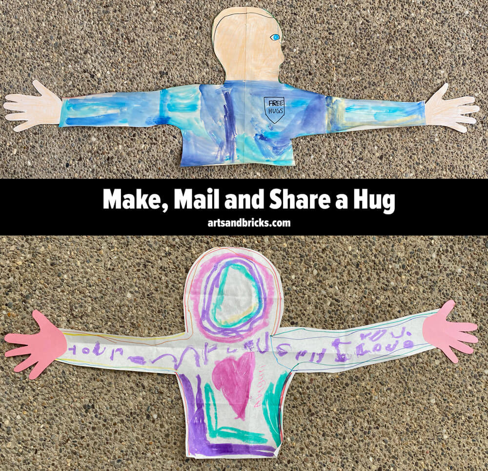 Learn how to make, mail and share a hug. This simple paper craft provides great family fun and shares love with those you are missing.