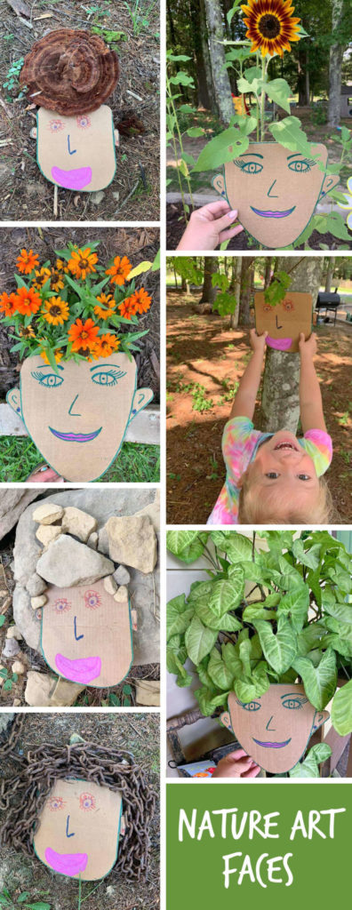 OUTDOOR CRAFT: Soak up your last days of summer sunshine outside with your little ones making and photographing this adorable nature craft! Bonus! You'll have as much fun (and maybe even MORE fun) than your child with this one. Just cardboard, scissors, paints/markers or crayons and a camera required!