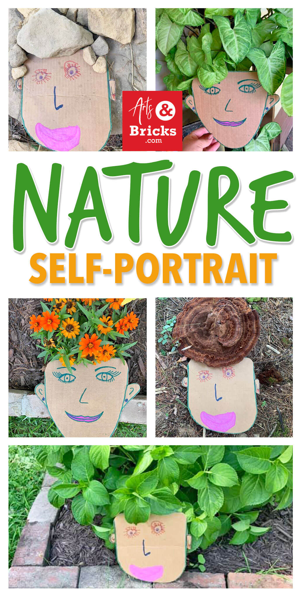 Soak up your last days of summer sunshine outside with your little ones making and photographing this adorable nature craft! Bonus! You'll have as much fun (and maybe even MORE fun) than your child with this one. Just cardboard, scissors, paints/markers or crayons and a camera required! Check out our blog for more inspirational images and instructions. #KidsArt #KidsCrafts