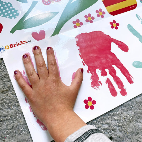 Personalized Gift - Window Cling play with personalized hand print